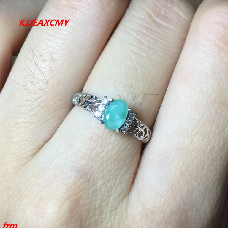 KJJEAXCMY Fine jewelry 925 sterling silver inlaid natural emerald ring wholesale and retail live mouth недорго, оригинальная цена