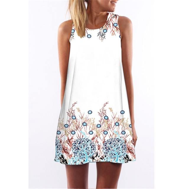 Summer Dress Floral Print...