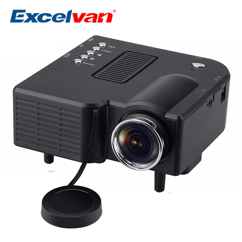 Excelvan uc28 portable led projector cinema theater for Portable projector with hdmi input