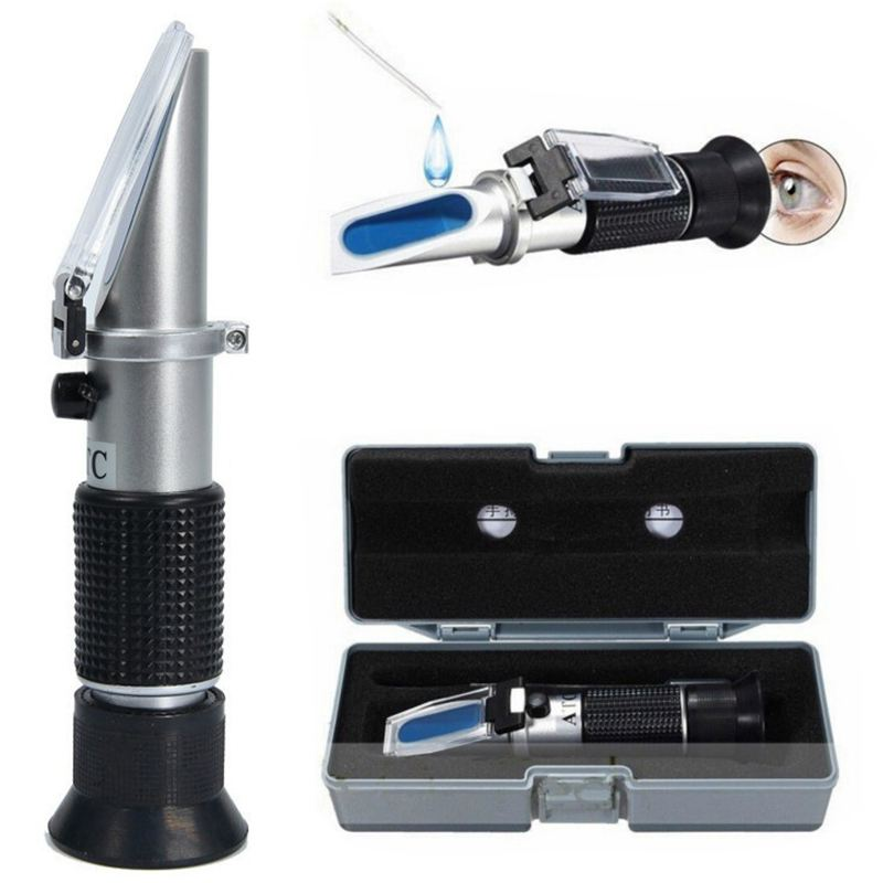 Handheld Refractometer Car Antifreeze Battery Acid Engine Coolant Tester Tool Auto Optical Instruments Specific Gravity Coolant