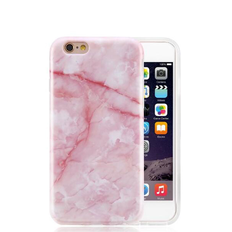 4edcf34523 Crack Pink Marble Case Cover For iPhone 7 Plus For iPhone 6 6s Plus Rock  Stone Phone Cases Silicone IMD Soft Cover Shell D83-in Fitted Cases from  Cellphones ...