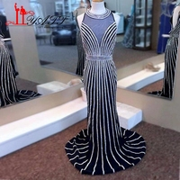 Major Beading Sexy Mermaid Prom Dresses Long 2017 New Sweetheart Backless Fitted Luxury Hand Beading Evening Dress vestido