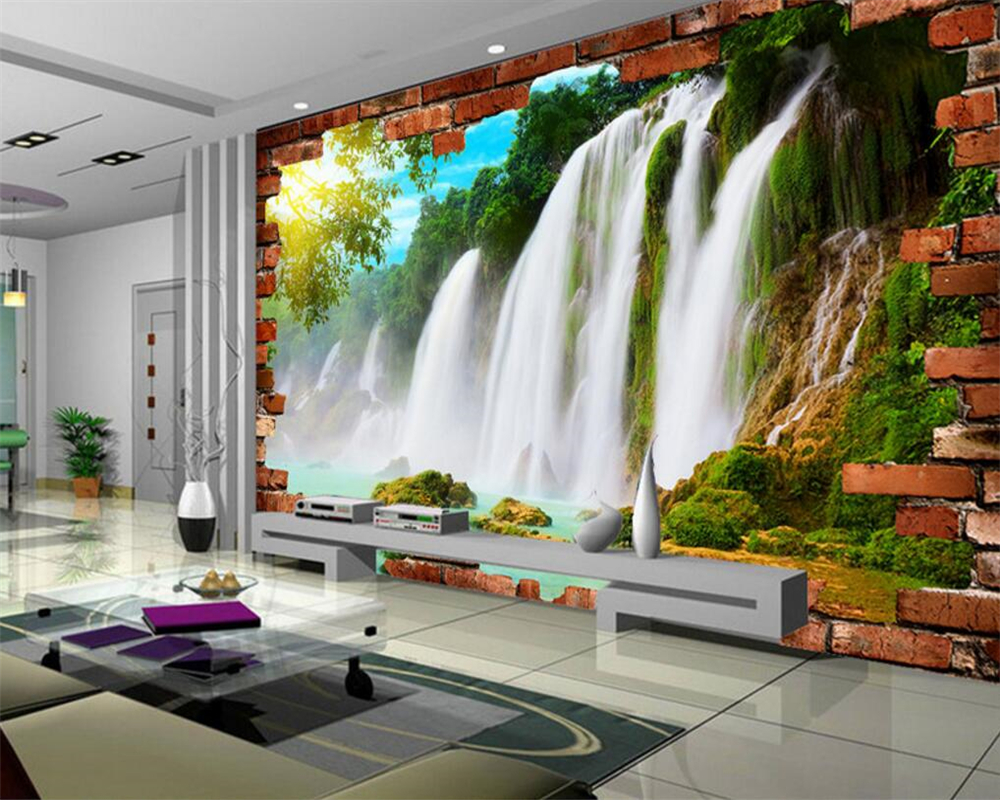 Air Terjun Mural Wallpaper Promotion Shop For Promotional Air