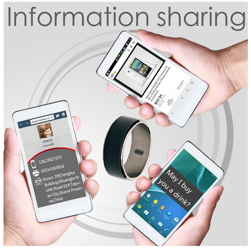 [Aaliyah] Smart Ring R3F Hot Sale In Smart Gadgets Accessories New Technology for Android Windows NFC Mobile Phone mens jewellry