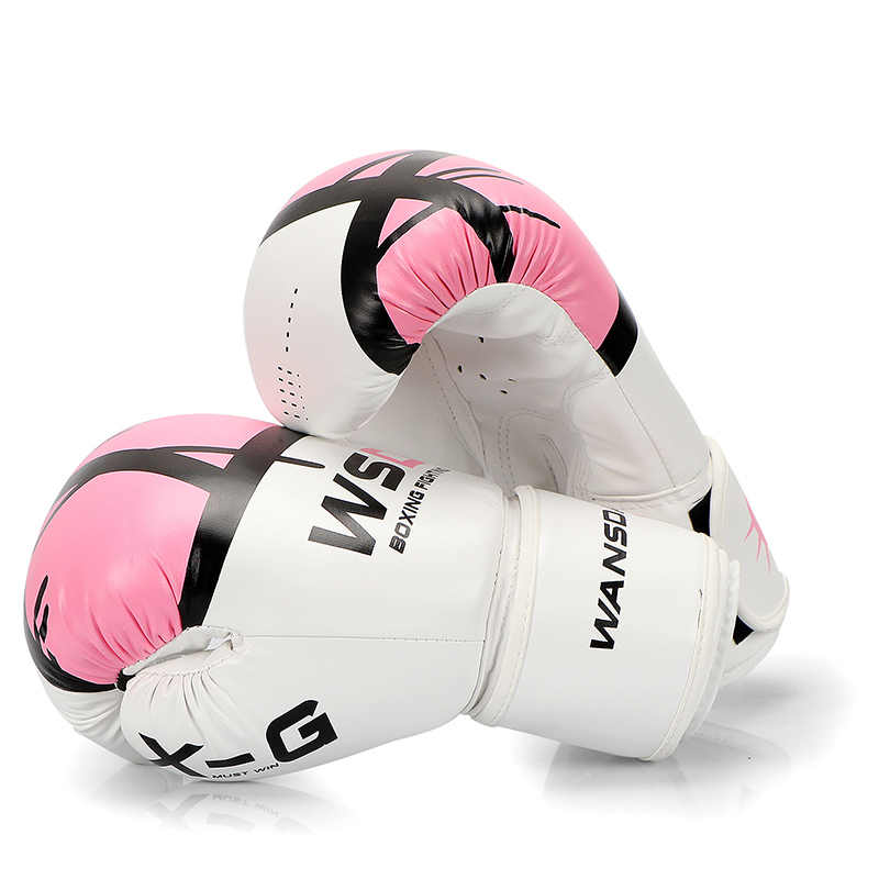 HIGH Quality  Adults  Boxing Gloves MMA Muay Thai Boxe De Luva Mitts Sanda Equipments8 10 12 OZ  pink boxing glove for women