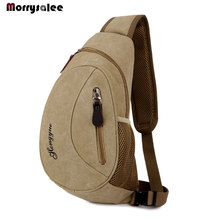 Fashion Mens Outdoor Sports Casual Canvas Chest Bag Cross bo
