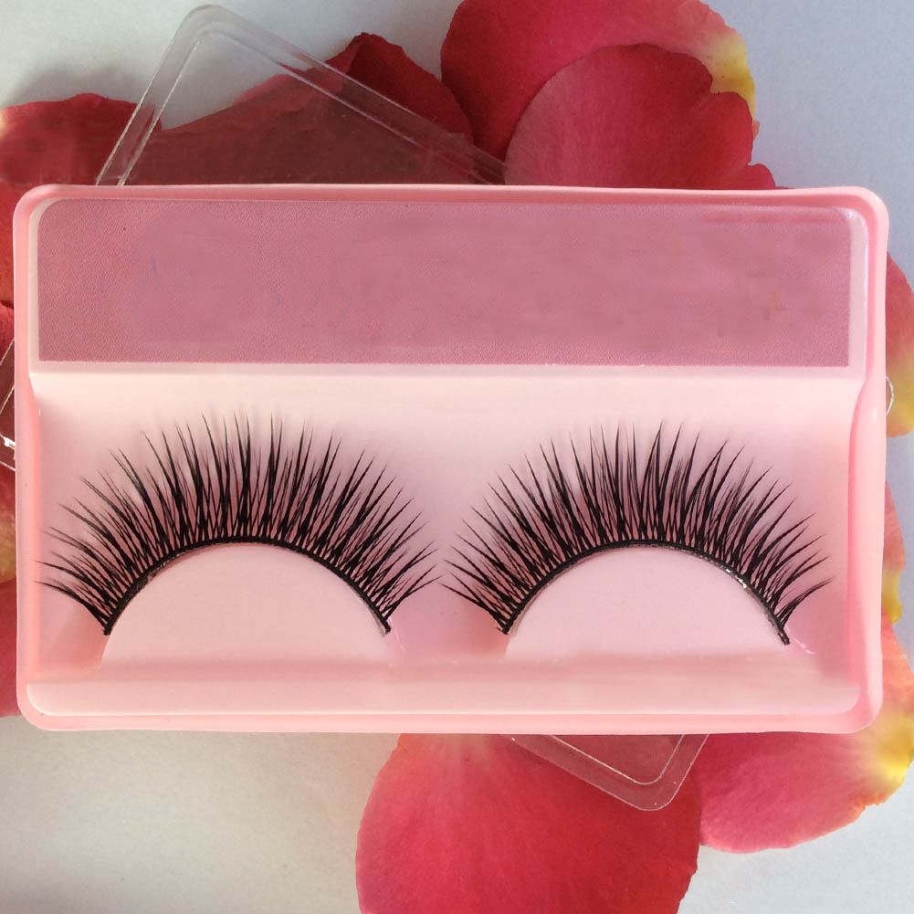 Beauty Long Natural Makeup Thick Fake False Eyelashes Black Eye Lashes Extension Tools Cotton Thread False Eyelashes