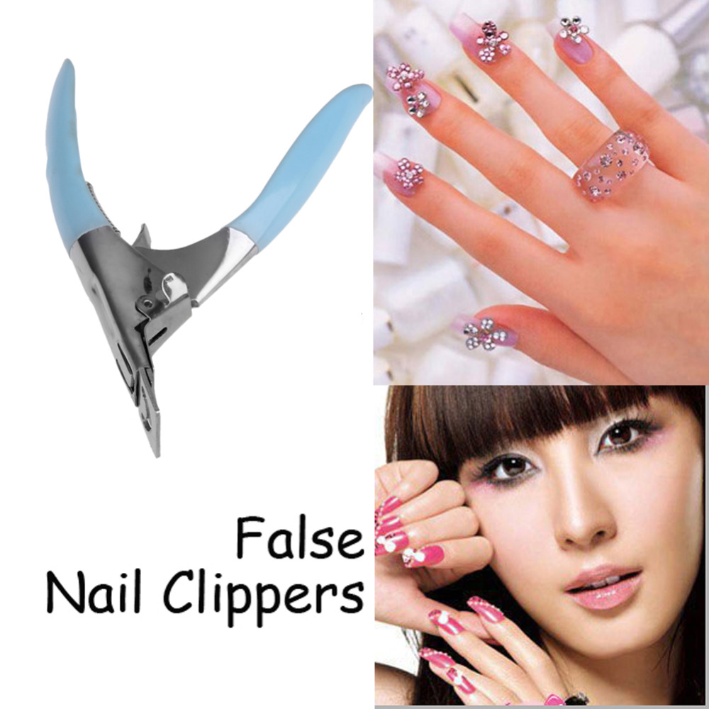 1pc False Nail Clipper Acrylic UV Gel Nail Manicure Clipper Tips Cutter Acrylic Gel Falsk Nail Tips Cutter Clipper Manicure Tool