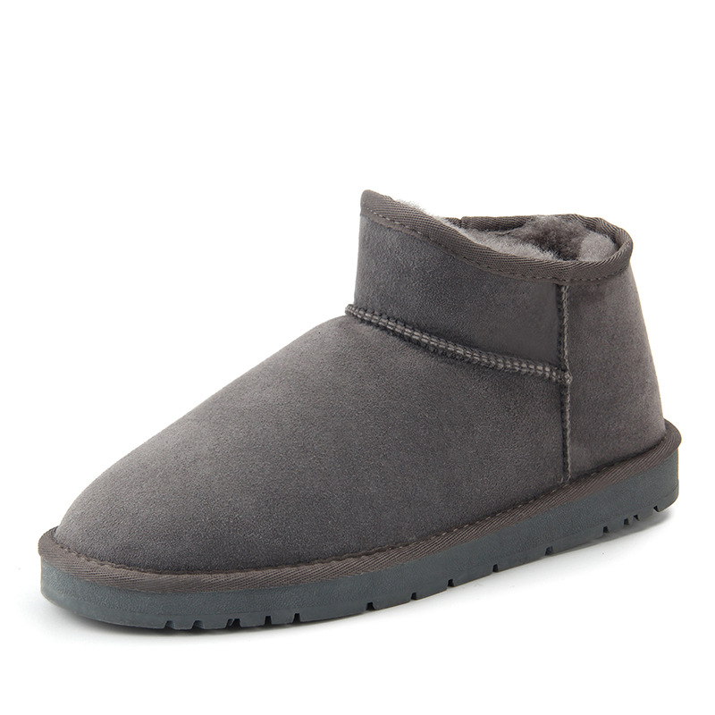 Warm and non-slip autumn and winter lazy shoes womens winter snow boots suede flat with Sheepskin with wool mens winter shoesWarm and non-slip autumn and winter lazy shoes womens winter snow boots suede flat with Sheepskin with wool mens winter shoes
