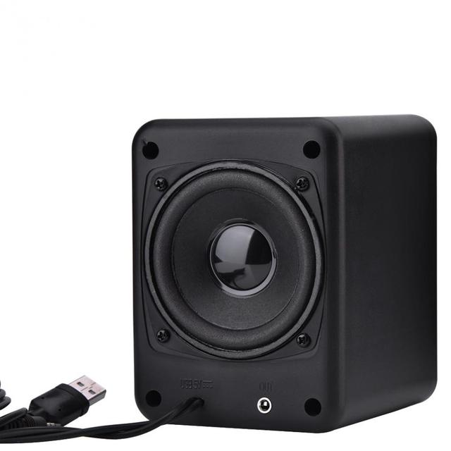 Wired Combination Music Player Subwoofer for Cellphone Laptop Free Shipping Speaker Mini Bass Stereo Speaker