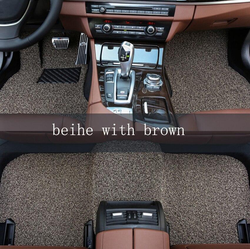 Custom car floor mats for Volkswagen All Models polo golf 7 tiguan touran jetta CC beetle caddy car accessorie auto floor mats