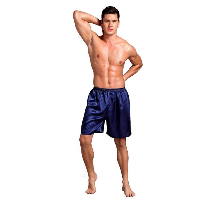 1b5a7b9b1434 Sexy Nightwear Underpants pyjama homme Casual Loose Men's Satin Silk Pijama  Shorts Summer Sleepwear Soft Boxer Underwear Pajama