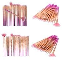 Professional 20 Pcs Sets Eye Shadow Foundation Eyebrow Lip Brush Makeup Brushes Comestic Tool Make Up