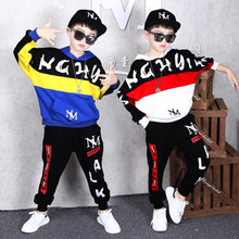 Kids Tracksuit Boys Casual Clothes Set Fashion sports Letter Print Sport Suit Boy Teen Long Sleeve Sweatshirt Hoodies Pant