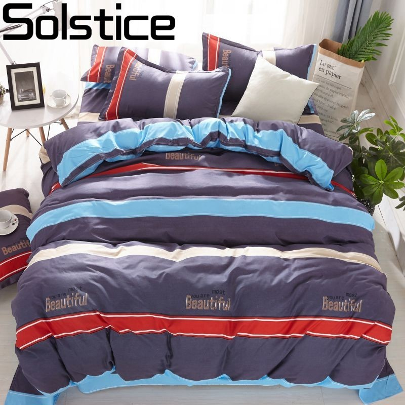 Solstice Bedding-Set Colorful Child Home-Textile King-Queen Bedlinen-Boy Sport-Style