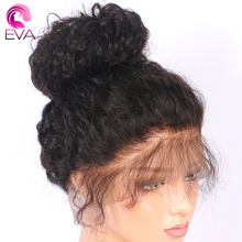 Eva Hair 360 Lace Frontal Wigs Pre Plucked Curly 180% Density Brazilian Remy Human Hair Wigs For Black Women With Baby Hair