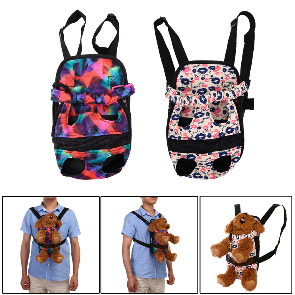 S/M/L Canvas Dog Carrier Outdoor Travel Dog Backpack Front Pet Bags Portable Double Shoulder Pet Puppy Carrier