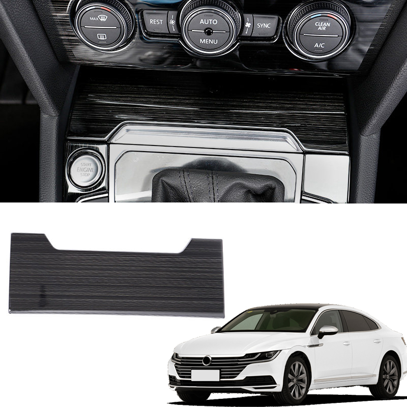 For VW Volkswagen Arteon 2017 2018 Interior Accessories Console Cigar Cigarette Lighter Panel Cover Trim 1pcs Stainless Steel
