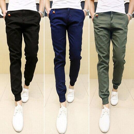 New Mens Skinny Joggers Chinos Slim Pants Men Trousers Hip Hop Pantalones Hombre Plus Size S-XXXL 13M0254