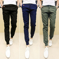 Nova mens chinos corredores magras calças slim homens calças hip hop pantalones hombre plus size s-xxxl 13m0254