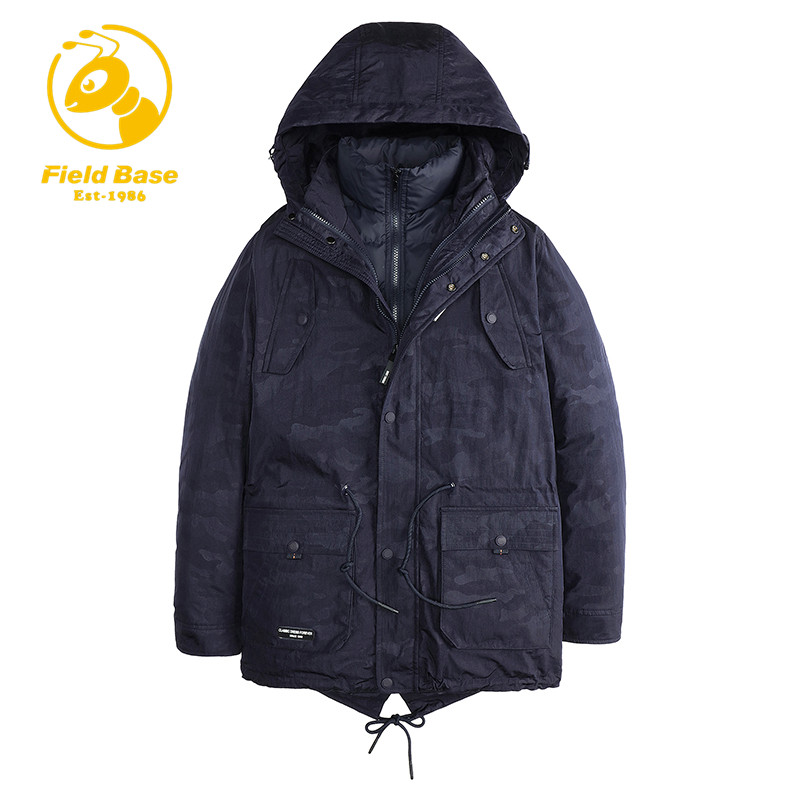 Field Base High Quality Men Padded Parka Cotton Coat Winter Jacket Mens Winter Coat Thick Parkas Artificial Cotton 2 in 1 Parkas tiger force 2017 new collection men padded parka winter coat mens fashion jacket long thick parkas artificial fur free shipping
