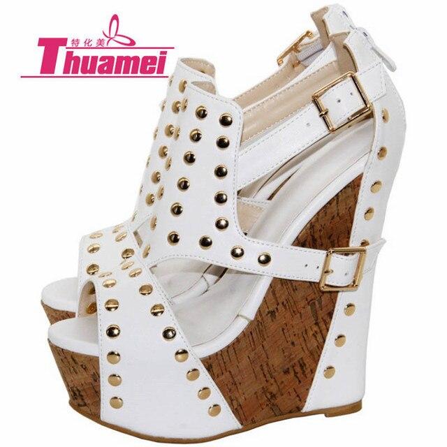 d6bd3e20e5a Sexy Shoes Women Pumps Gladiator Women s Shoes Platform Leopard Wedge 15cm High  Heels Spring Summer Autumn Woman  Y0736847F