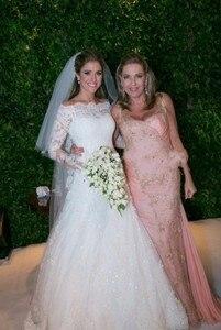 Image 5 - Vestidos De Noiva suknie ślubne syrenka długie rękawy koronkowe aplikacje zroszony Sweep pociąg Plus rozmiar Off ramię suknia ślubna 2020