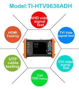 Image 4 - 7inch CCTV camera tester 8MP video Tester TVI CVI 5MP AHD 2MP SDI ahd monitor Camera HDMI Call OSD menu UTP monitor for cctv