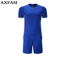 2017 Adult Football Jerseys Teens Boys Training Football Jerseys Quick Drying Short Sleeve Custom Soccer Jerseys
