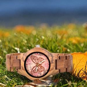 Image 5 - ELMERA wood watch women ladies watches women in Wristwatch Quartz Movement Wood Watch relogio feminino