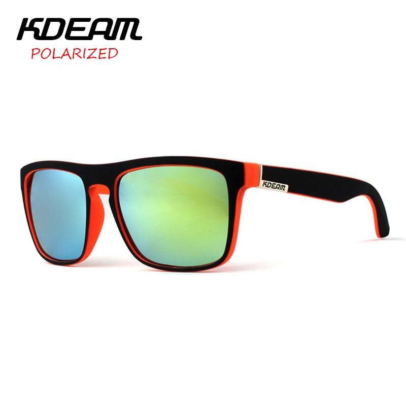 KDEAM 2016 Polarized Sunglasses Men Women Brand Designer Sport Sun Glasses 6 Colors UV400 Driving Fishing