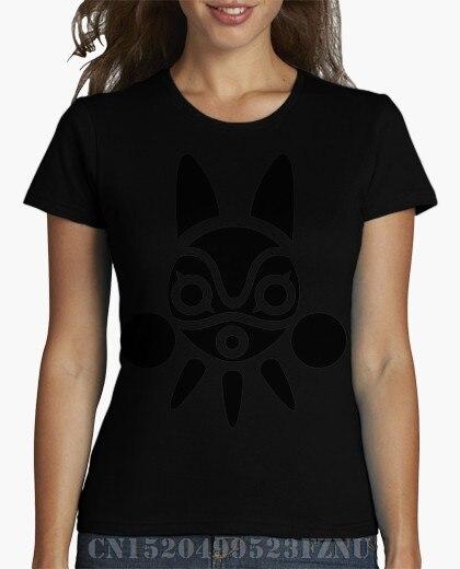 2018 black friday t shirt women Mononoke Short Cotton Print