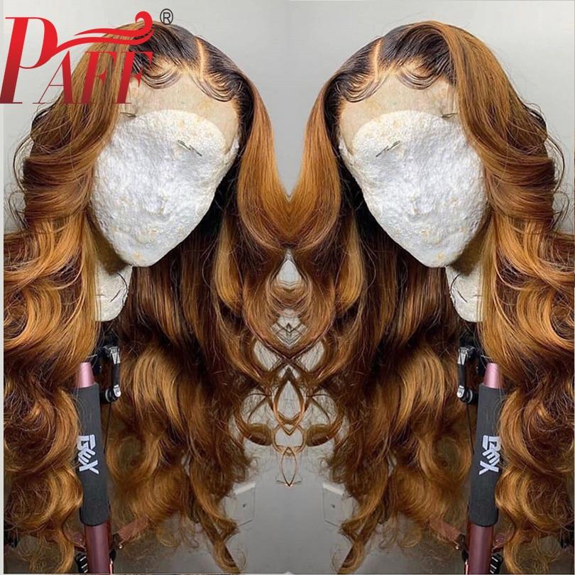 PAFF Ombre pelucas llenas del cabello humano del cordón con el pelo del bebé 1BT27 Color cabello Remy brasileño de dos tonos de encaje completo blanqueado nudos parte libre-in Peluca de encaje de cabello humano from Extensiones de cabello y pelucas on AliExpress - 11.11_Double 11_Singles' Day 1