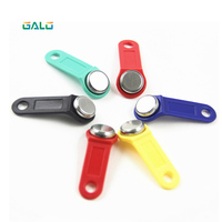 GALO 100pcs/lot TM Rewritable RFID Touch Memory Key RW1990 iButton Copy Card Sauna Key tag tags llaveros llavero sticker token