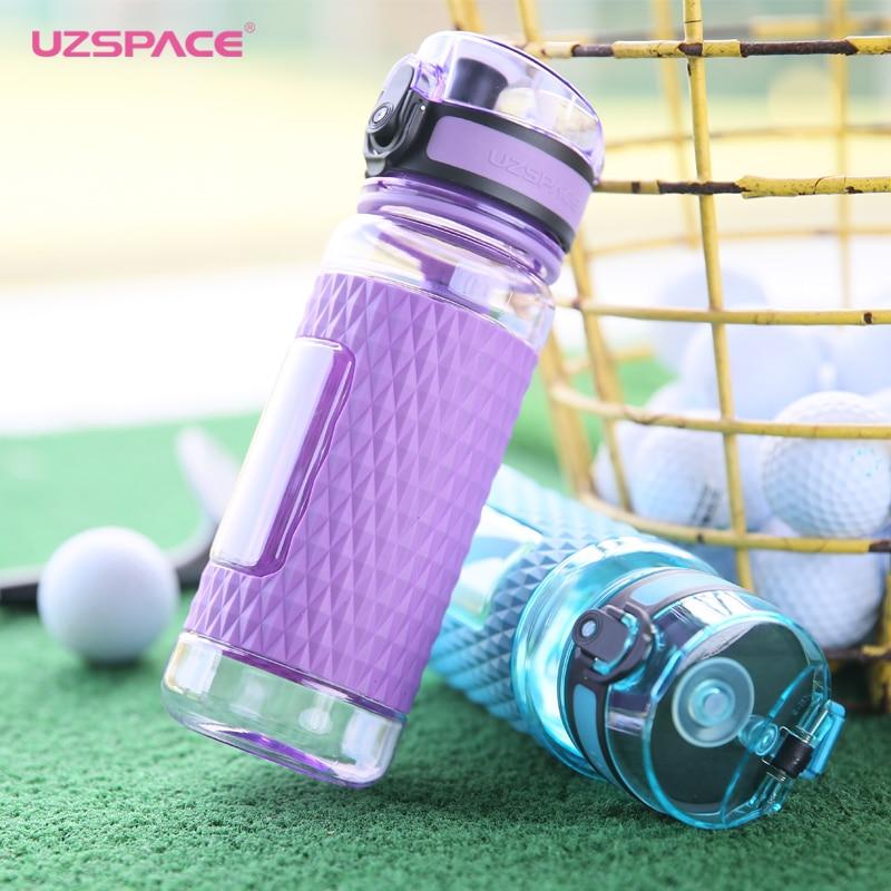 UZSPACE botella de agua oferta especial proteína agitador de iones negativos energía de plástico de 350 ml de botella de los deportes respetuoso del medio ambiente de Tritan de... libre de BPA