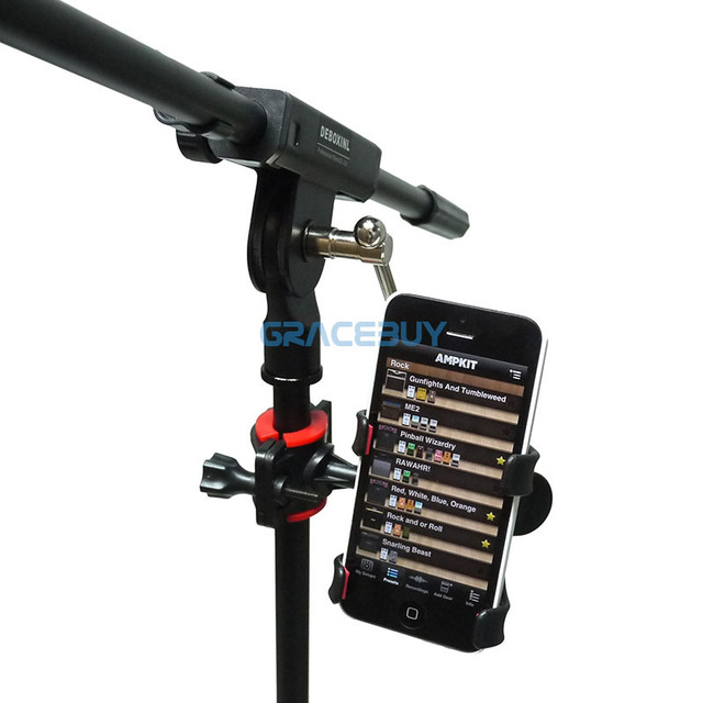 Universal Microphone Mic Stand Phone Holder for iPhone for Samsung Smart Phones New