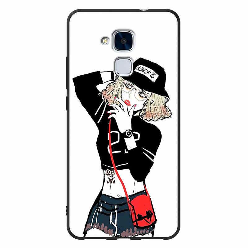Huawei GT3 чехол huawei GT3 NMO-L21 чехол Мягкая силиконовая задняя крышка-чехол для телефона huawei GT3/Honor 7 LITE NMO L03 L22 L23 L31 L02