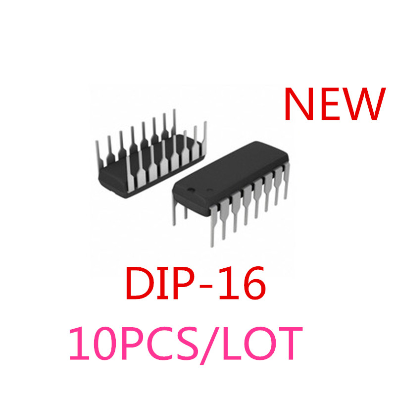 10pcs CD74HC4053 74HC4053 MUX//DEMUX TRIPLE 2X1 16DIP NEW