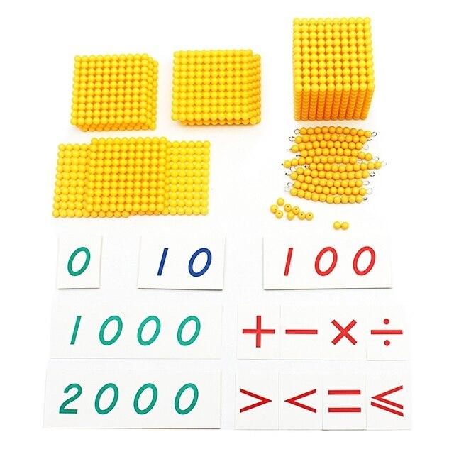 Montessori niños juguete bebé Base Decimal juego de matemáticas de entrenamiento para Educación Temprana Preescolar Brinquedos Juguets