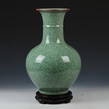 Jingdezhen ceramics antique old crackle glaze vase of flower Chinese living room decor decoration large