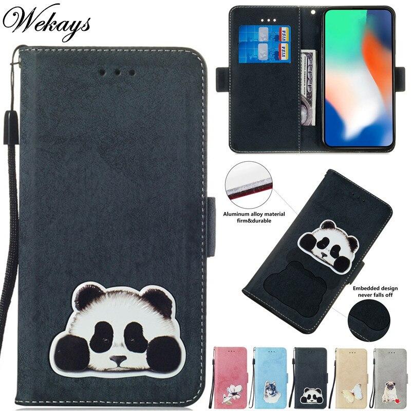 Wekays For Huawei Mate 10 Lite Cartoon Panda Leather Fundas Case For Huawei Honor 9i Nova 2i Maimang 6 Cover Cases Mate 10 Lite