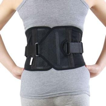 2019 cinturón de soporte de cintura elástica transpirable deportivo entrenador de cintura pérdida de peso ajustable de malla Lumbar espalda Brace M/L/XL