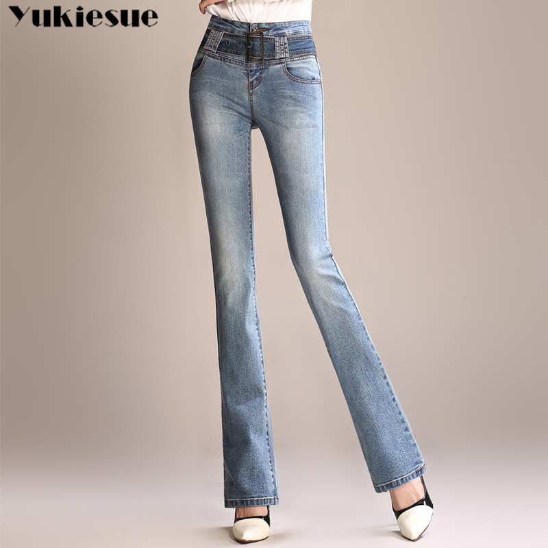online store 96fec 631db US $24.7 35% OFF|high waist woman's jeans women's pants large size cowboy  skinny jeans woman mom jeans push up jeans ladies female Plus size-in Jeans  ...