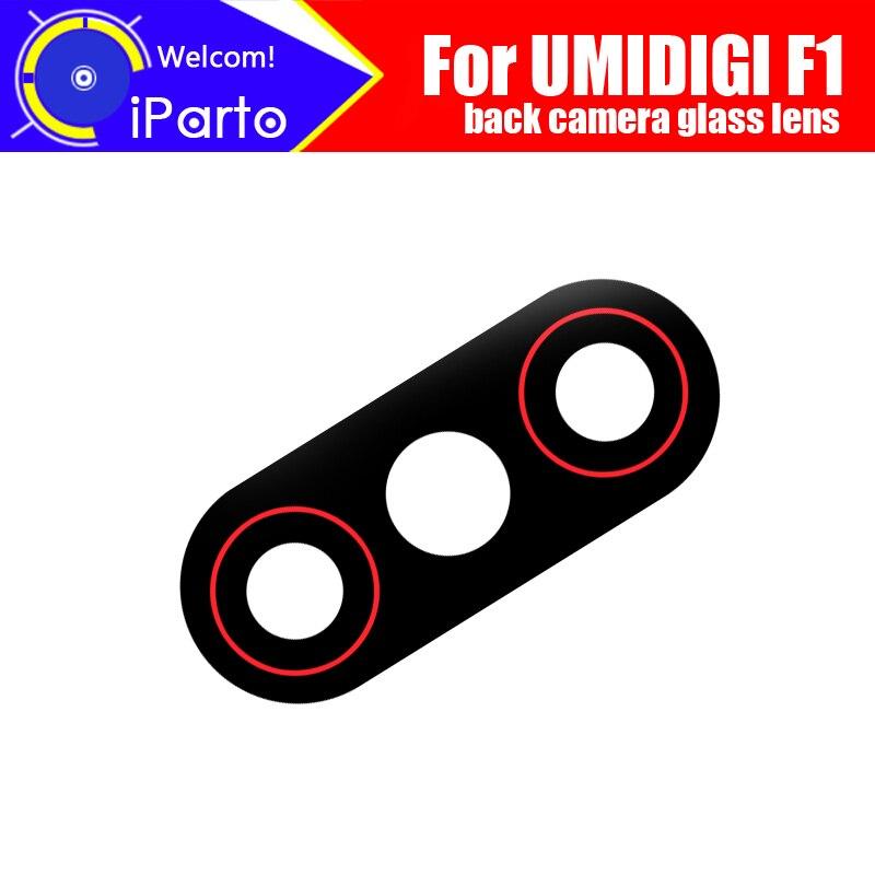 Umidigi-lente de cámara trasera F1 100%, cristal de la Lente de la cámara trasera Original, accesorios de repuesto para teléfono umidigi-f1 UMIDIGI A3 Android 9,0 banda Global 5,5