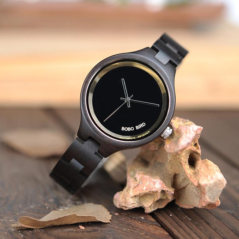 Relogio Feminino 2 Colors BOBO BIRD Wood Women Watches Luxury Special Handmade Wooden Wrist Watch For Women Gifts C-P16
