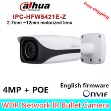 Original Dahua DH-IPC-HFW5421E-Z CCTV IPC 4MP POE HD 2.7mm ~12mm motorized lens WDR Network IR Bullet Camera IPC-HFW5421E-Z