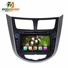 "7 ""Quad Core 1024*600 Android 6.0 Araba DVD GPS Oyuncu Için Solaris Verna Accent Kiralık PC Ana Ünite Araba Radyo Video Oynatıcı navigasyon"
