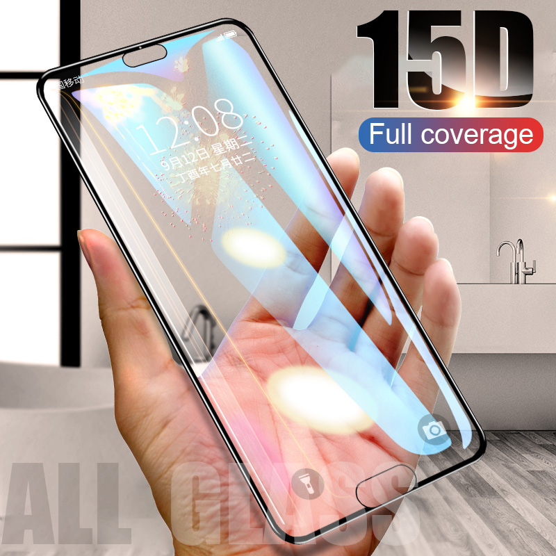 ZNP 15D Screen Protector Tempered Glass For Huawei P20 P10 Lite Plus Protective Glass For Huawei P20 Pro Mate 20 10 lite Film-in Phone Screen Protectors from Cellphones & Telecommunications