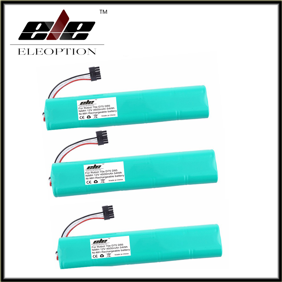 3 pcs <font><b>12V</b></font> 4500mAh <font><b>4.5Ah</b></font> NI-MH Eleoption New Replacement battery for Neato Botvac 70e 75 80 85 D75 D8 D85 Vacuum Cleaner battery image