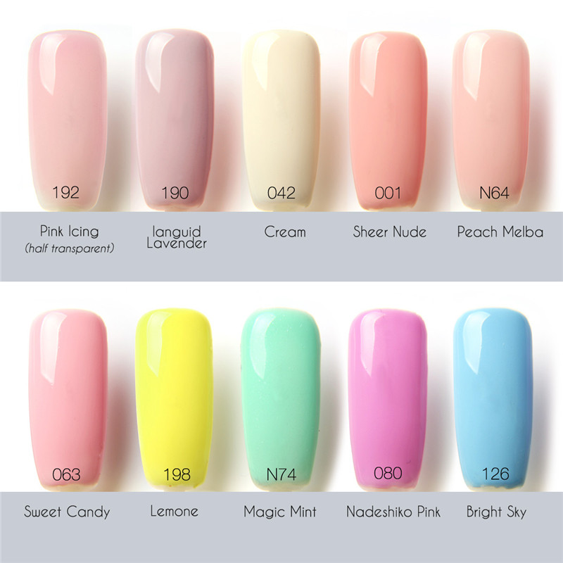 12ML 1Pcs 90 Colors Nail Gel Long-lasting Soak-off Nail LED UV Summer Hot Nail Polish by FOCALLURE